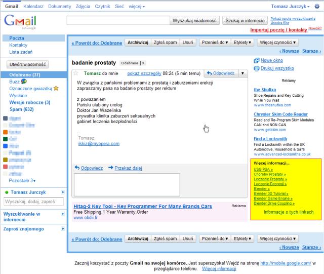 Gmail - badanie prostaty - tjurczyk@gmail