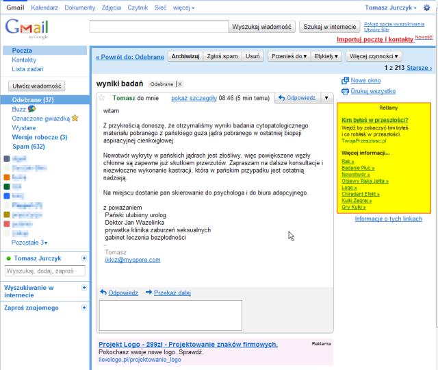 Gmail - wyniki badań - tjurczyk@gmail2